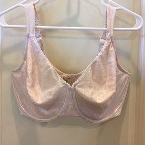 Pink Curvation Silky Lace Bra - 40 DDD EUC